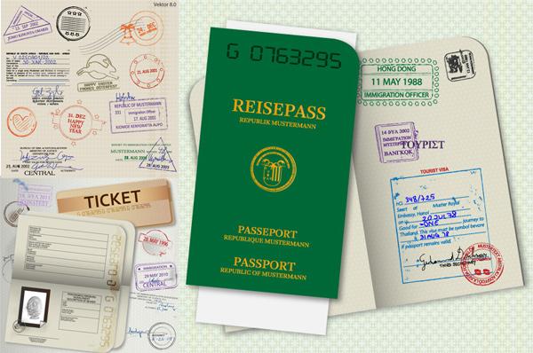 护照模板矢量素材