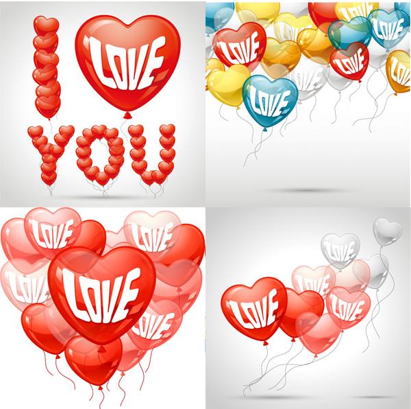 浪漫气球背景素材