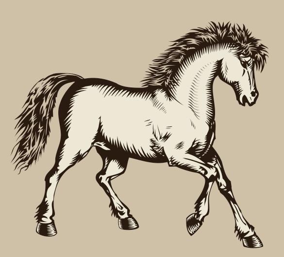 马版画风格图案素材