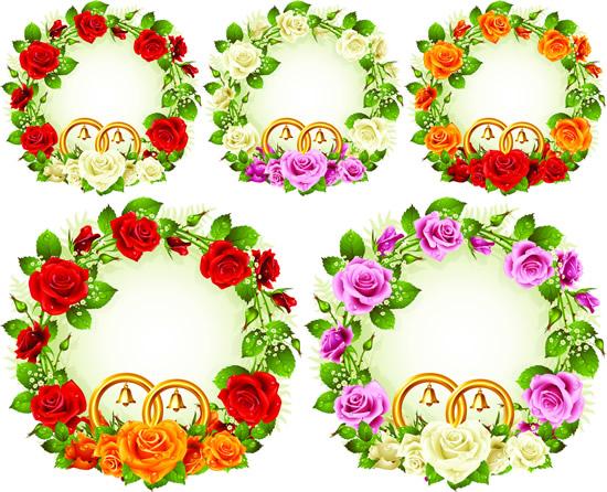 玫瑰花环边框素材