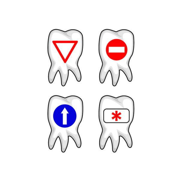 牙齿图标矢量素材