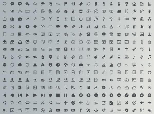 经典图标02-矢量图库-名片之家
