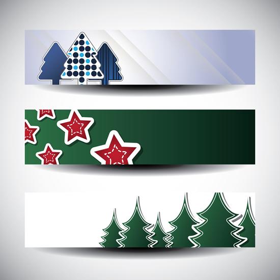 松树五角星贴纸素材