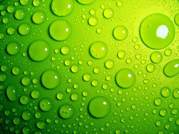 绿色水珠背景素材