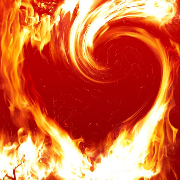 心形火焰素材