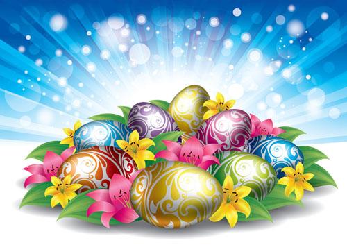 复活节彩蛋背景素材