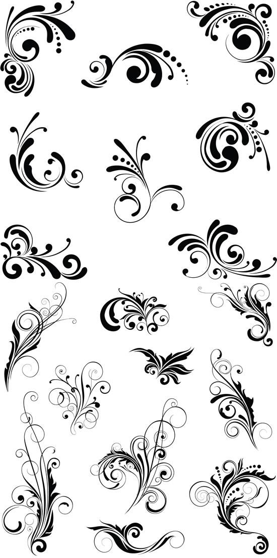 植物纹样花纹-矢量图库-名片之家