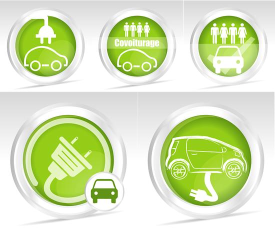 充电汽车图标素材