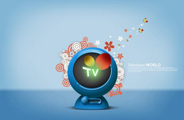 电视机与花纹-高清图库-名片之家
