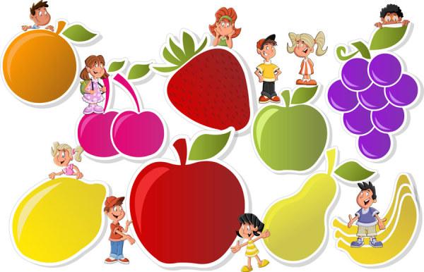卡通水果标贴