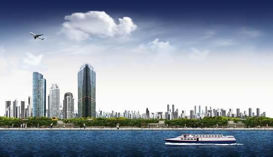 海滨城市风景-建筑景观高清图库-名片之家