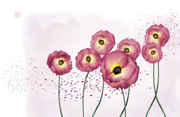 手绘小红花