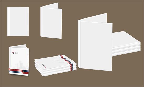 空白折页画册矢量素材-素材吧www.sc126.com; vi空白模板;
