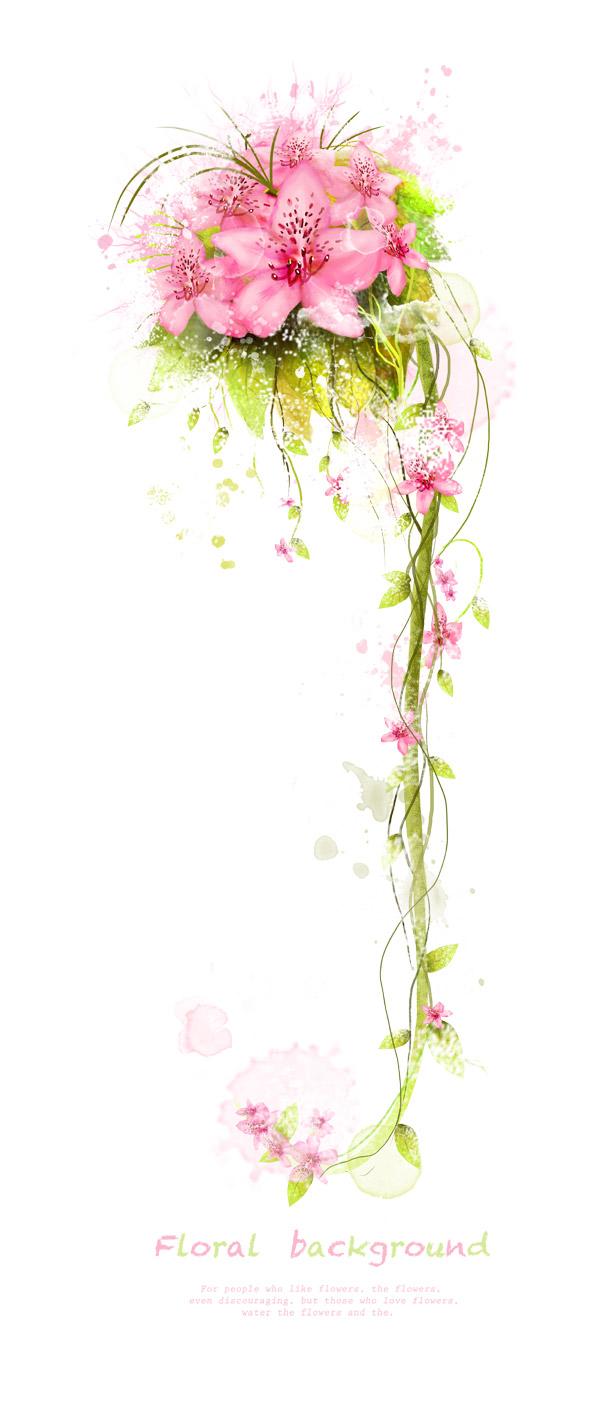 花与花藤装饰素材