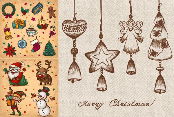 手机手绘圣诞节宣传海报
