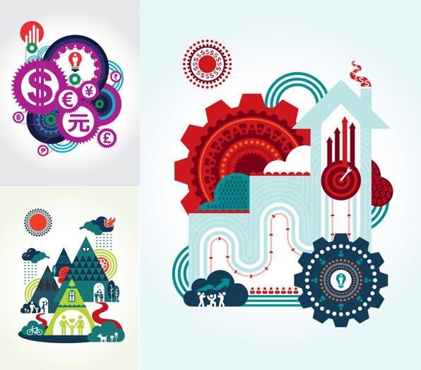 抽象生活涂鸦设计素材