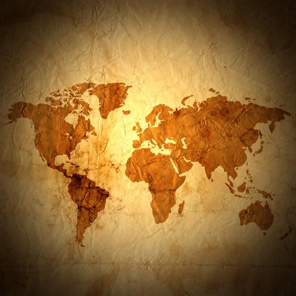 旧世界地图素材