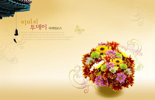 花卉底图素材