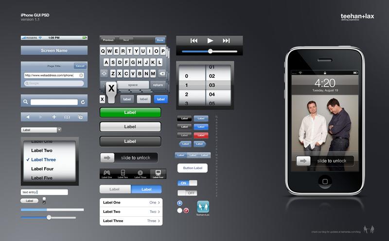iphone界面ps素材