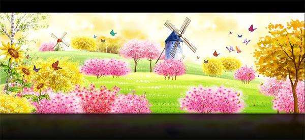 满园春天风景-自然风景高清图库-名片之家