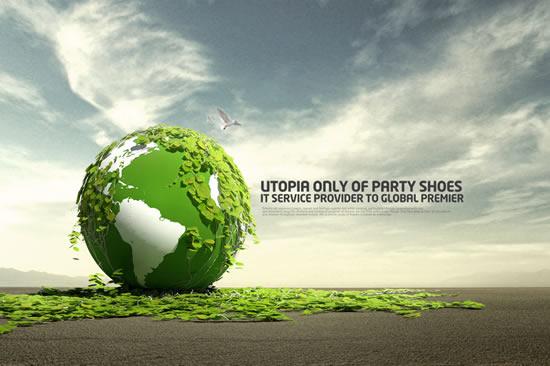 免费绿色环保psd素材