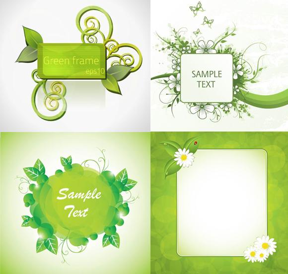 装饰边框简笔画绿植