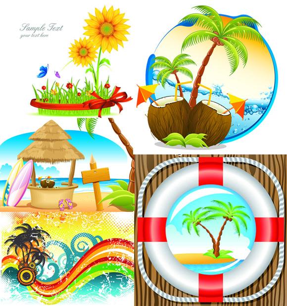 夏季热带风景素材