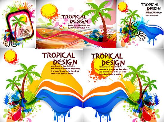 夏季海报矢量素材