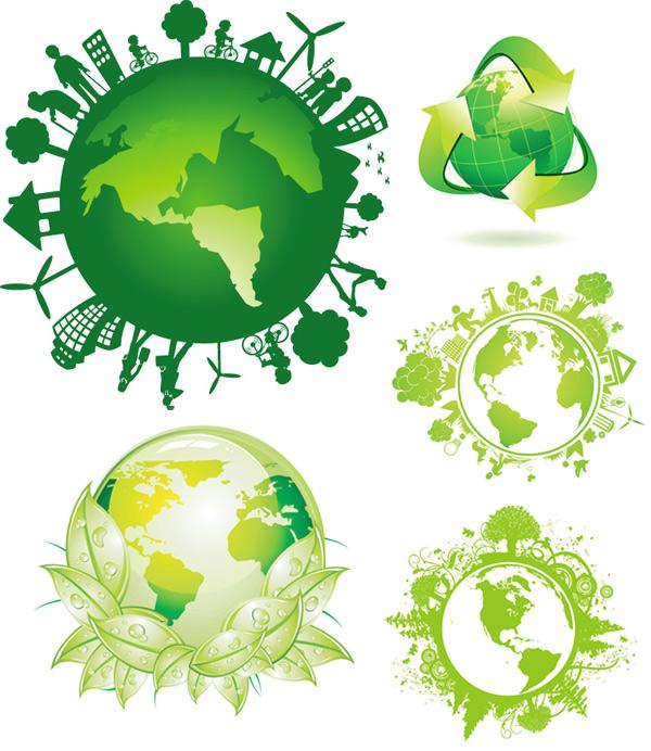 绿色环保地球素材
