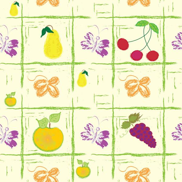 手绘水果背景