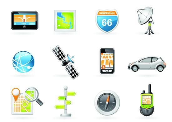 数码导航设备图标素材