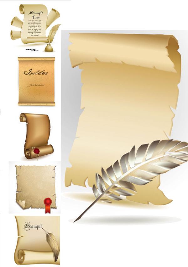 卷纸边框图片素材