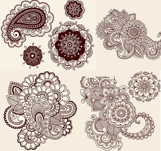 古典花纹图案-图案矢量图库-名片之家