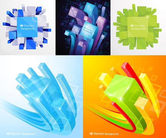 立方体图形背景素材