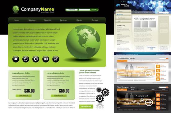 网页模板设计-平面广告矢量图库-名片之家