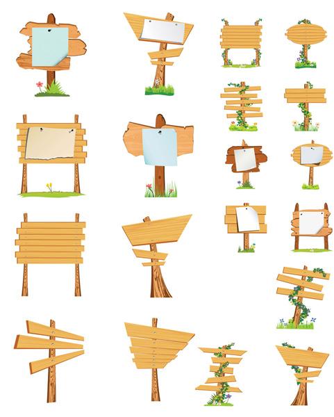 木板指示牌素材