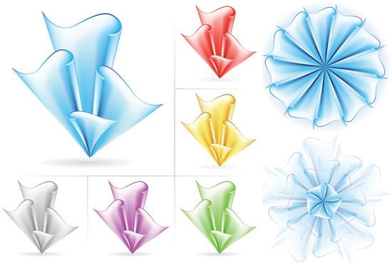 纸花图形折纸素材
