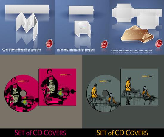 光碟cd包装设计素材
