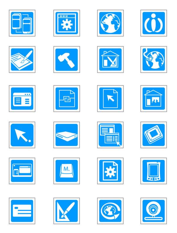 科技矢量图标-各式图标矢量图库-名片之家
