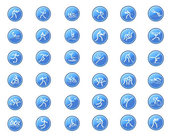 运动项目图标-各式图标矢量图库-名片之家