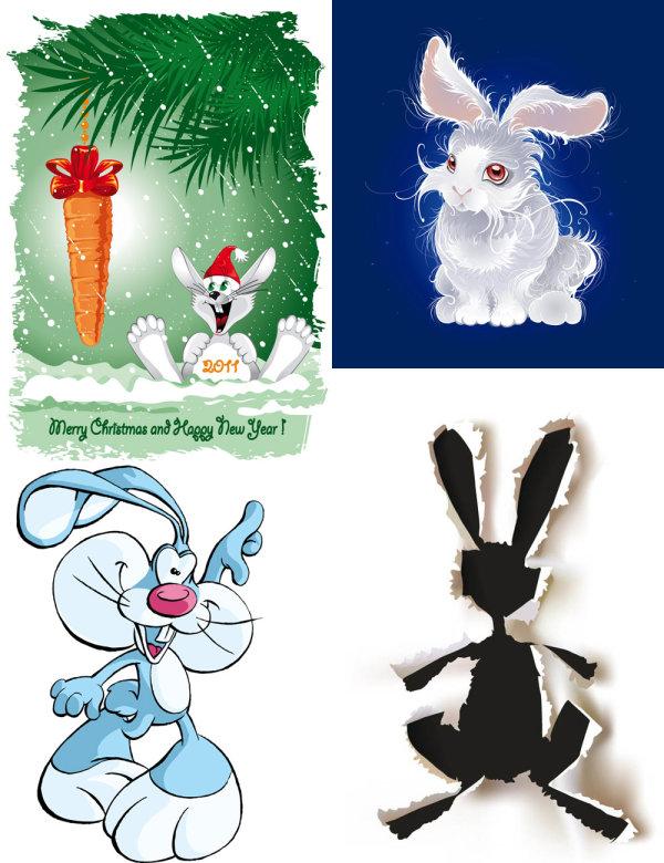 兔子素描画步骤图片