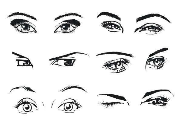 女人的眼睛素材