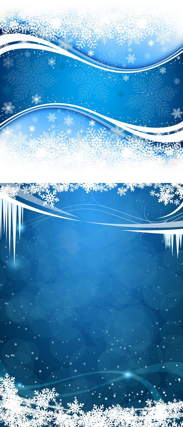 清新雪花背景素材
