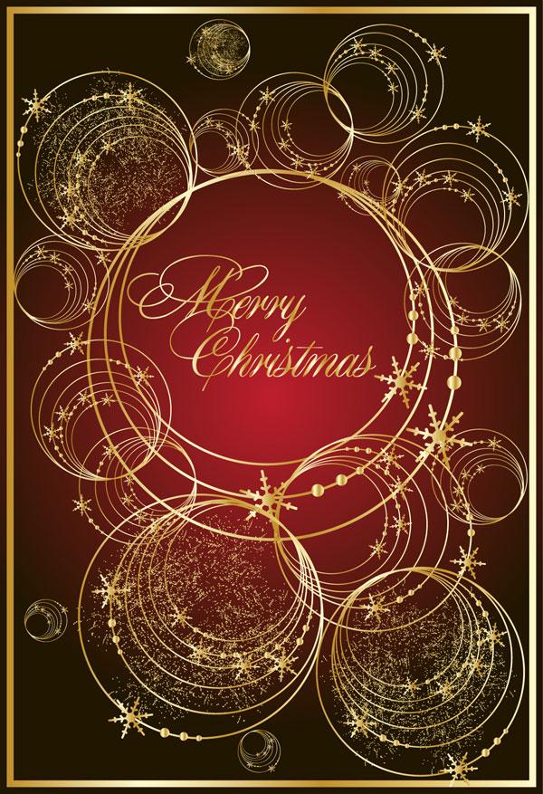 金色线圈矢量-圣诞节矢量图库-名片之家