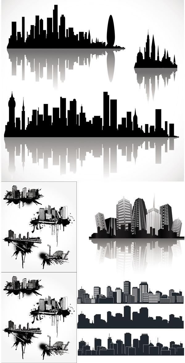 超酷的城市剪影
