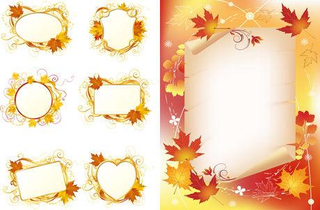 枫叶装饰边框素材