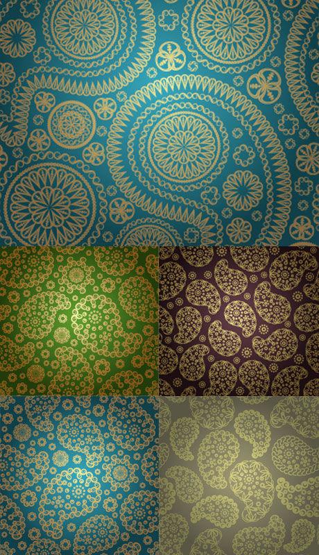 传统丝绸底纹素材