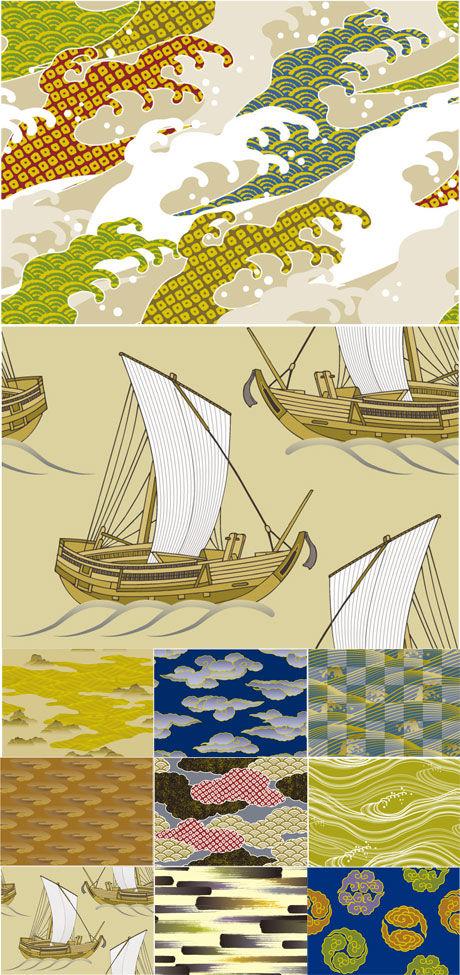 日系和风背景2素材