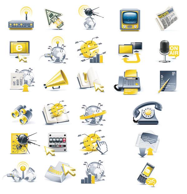 科技立体图标-各式图标矢量图库-名片之家