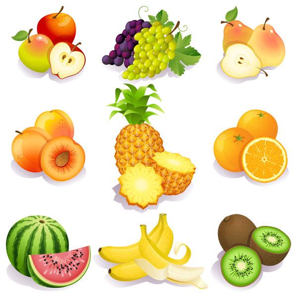 新鲜的水果素材